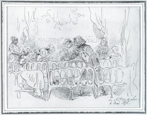 Fig. 7. F L talking with the pensionaires